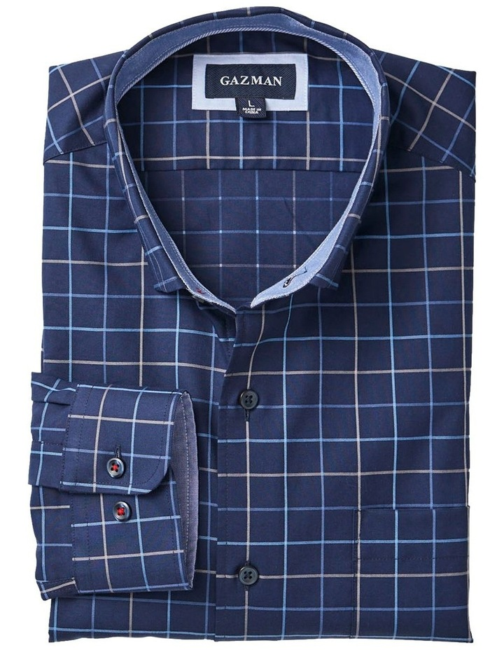 Easy Care Twill Check Long Sleeve Shirt image 5