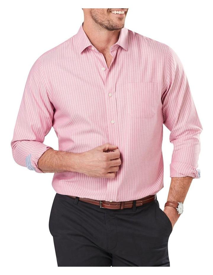 Wrinkle Free Oxford Stripe Long Sleeve Shirt image 1