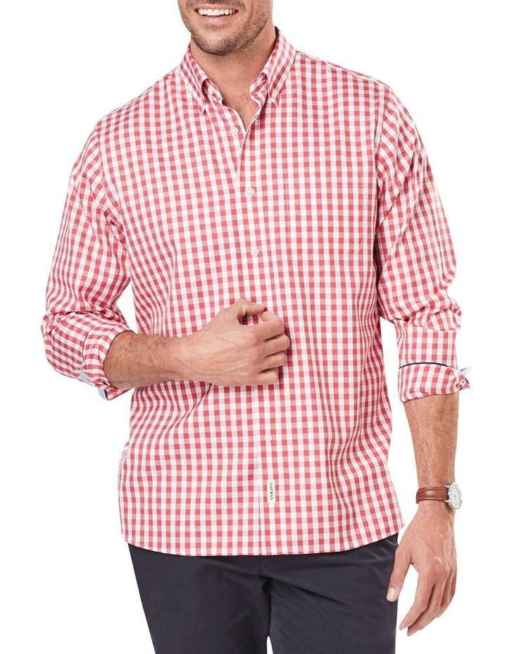 Wrinkle Free Oxford Check Long Sleeve Shirt image 1