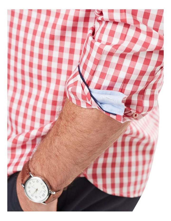 Wrinkle Free Oxford Check Long Sleeve Shirt image 3