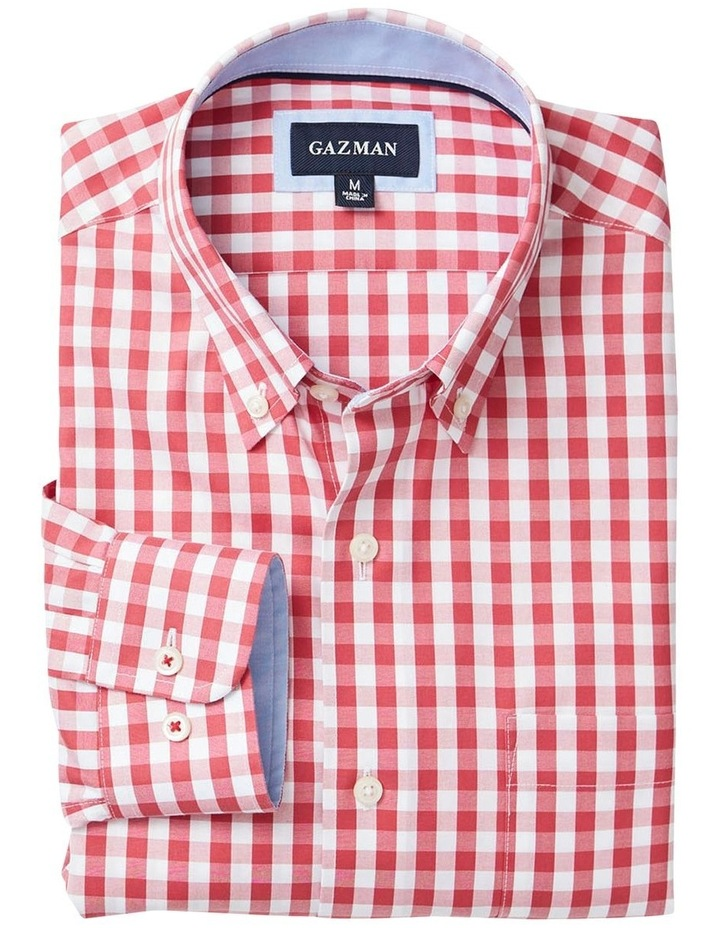 Wrinkle Free Oxford Check Long Sleeve Shirt image 4