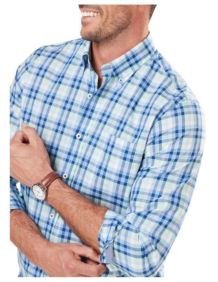 Easy Care Poplin Check Long Sleeve Shirt image 3