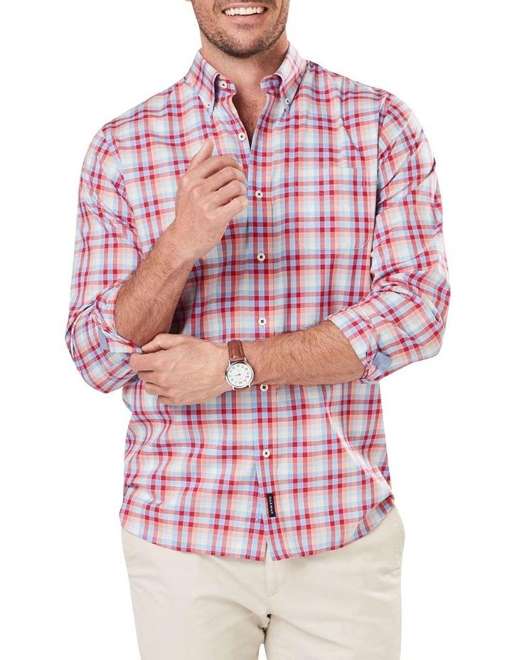Easy Care Poplin Check Long Sleeve Shirt image 1