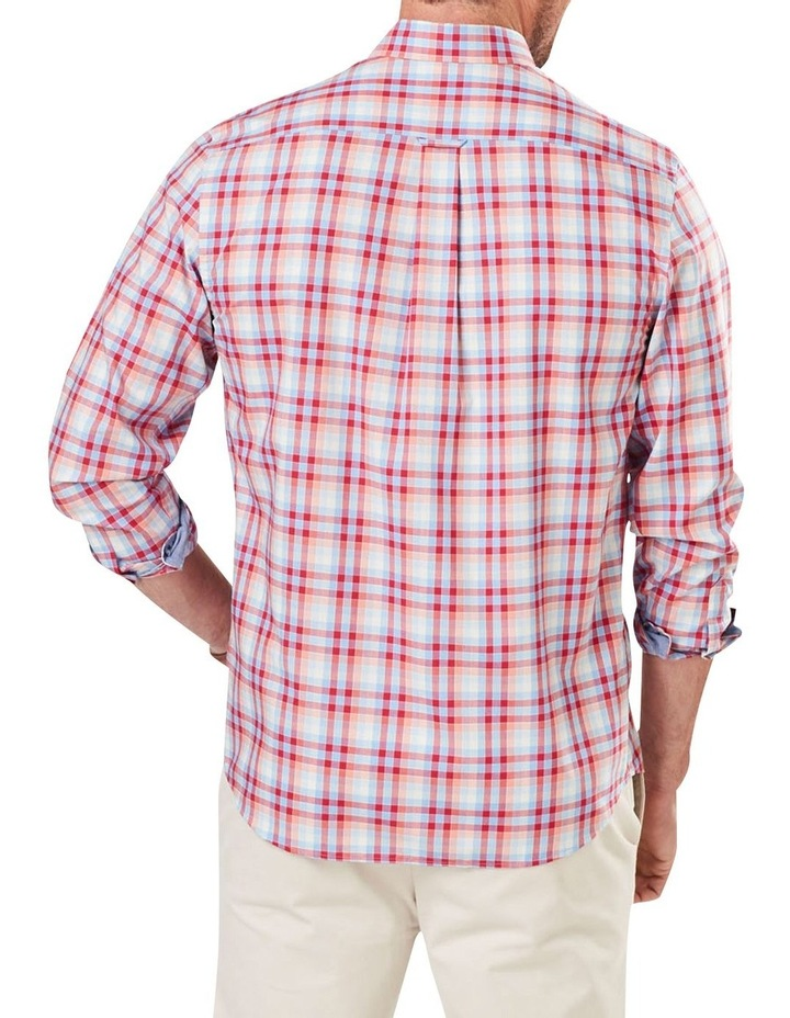 Easy Care Poplin Check Long Sleeve Shirt image 2