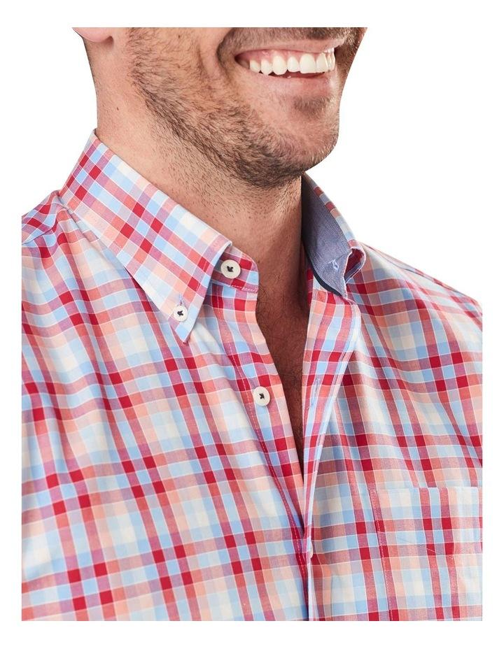 Easy Care Poplin Check Long Sleeve Shirt image 4