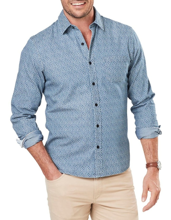 Casual Denim Print Long Sleeve Shirt image 1