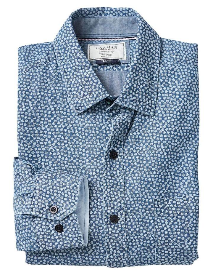 Casual Denim Print Long Sleeve Shirt image 5