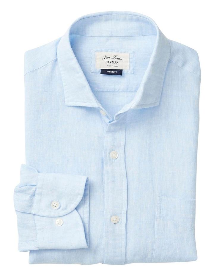 Pure Linen Plain Long Sleeve Shirt image 4