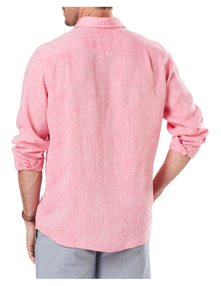 Pure Linen Plain Long Sleeve Shirt image 2