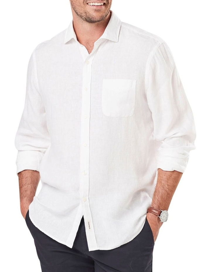 Pure Linen Plain Long Sleeve Shirt image 1