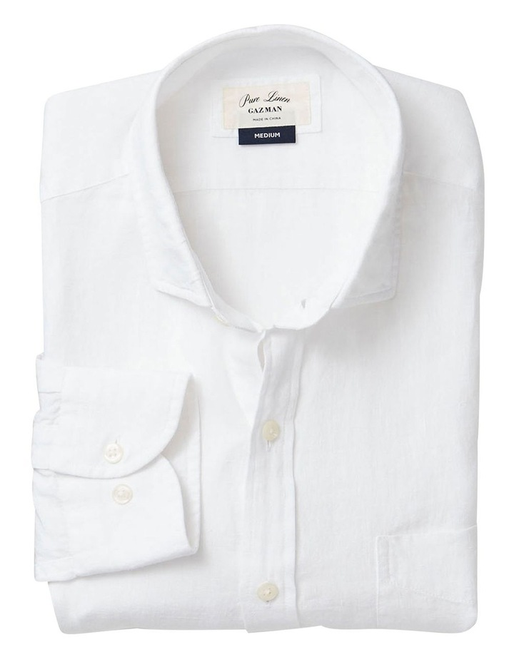 Pure Linen Plain Long Sleeve Shirt image 4
