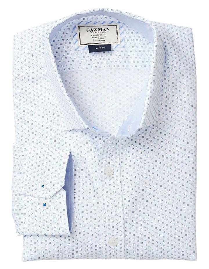 Classic Smart Geo Print Long Sleeve Shirt image 4