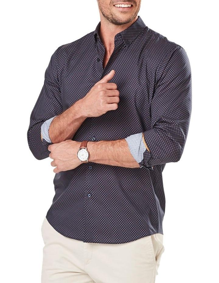 Tailored Smart Geo Print Long Sleeve Shirt image 1
