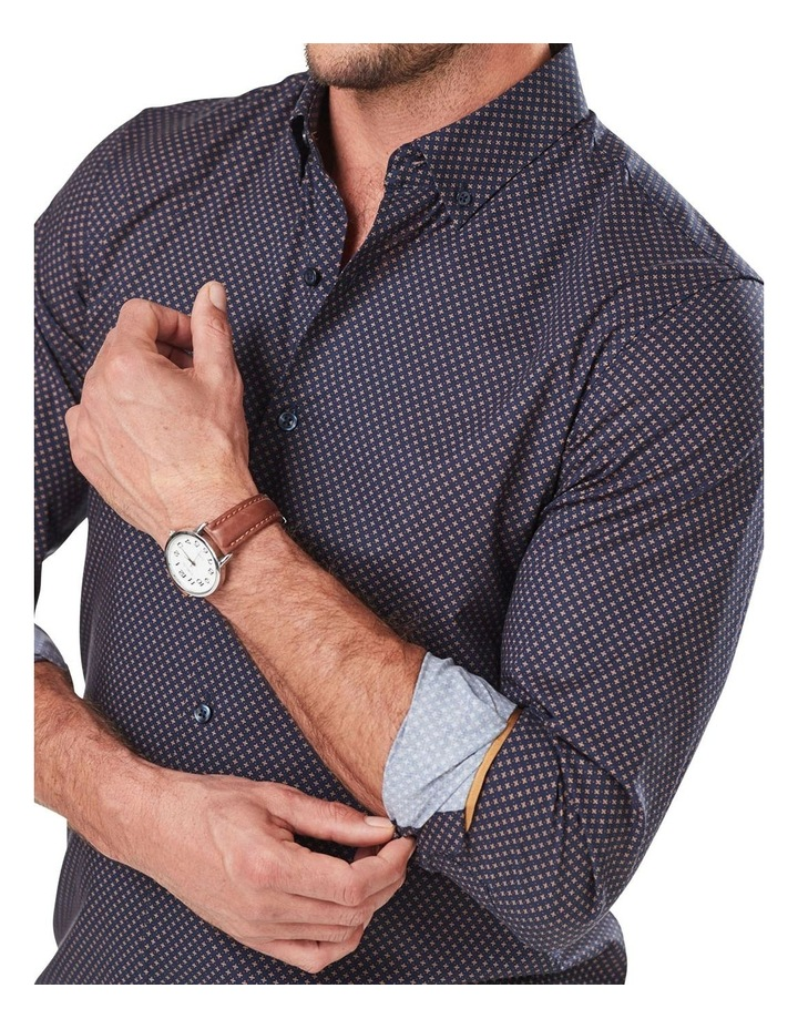 Tailored Smart Geo Print Long Sleeve Shirt image 3