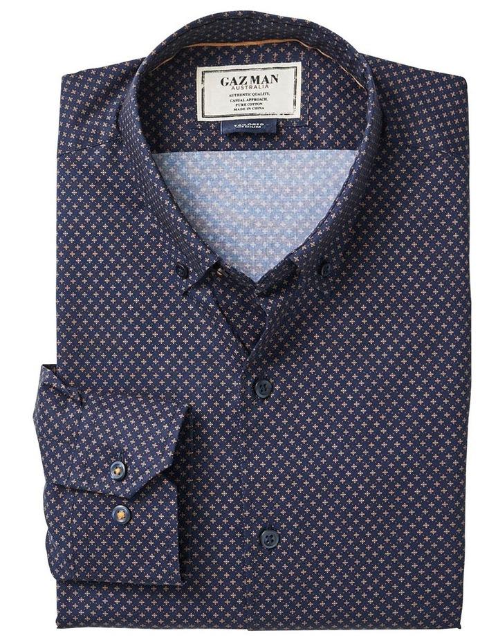 Tailored Smart Geo Print Long Sleeve Shirt image 4