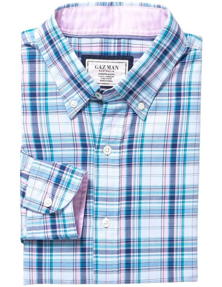 Easy Care Oxford Multi Check Long Sleeve Shirt image 4