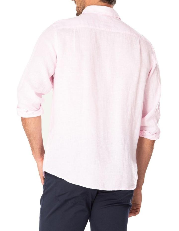 Pure Linen Plain Long Sleeve Shirt image 2