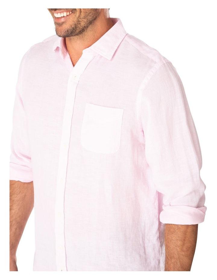Pure Linen Plain Long Sleeve Shirt image 3