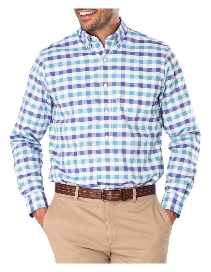 Easy Care Dobby Check Long Sleeve Shirt image 1