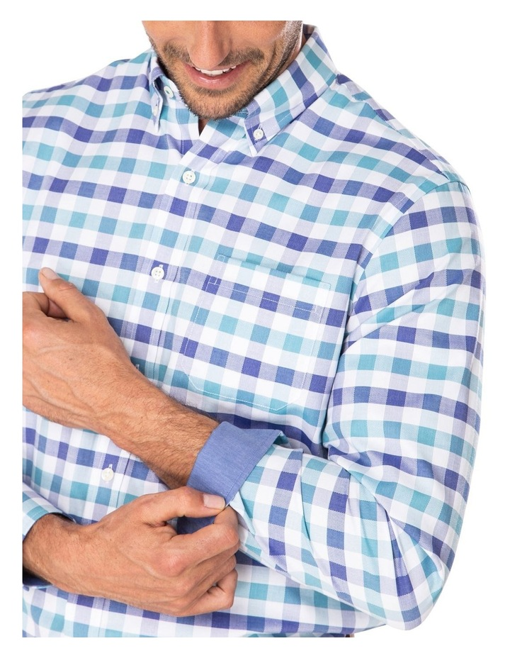 Easy Care Dobby Check Long Sleeve Shirt image 3