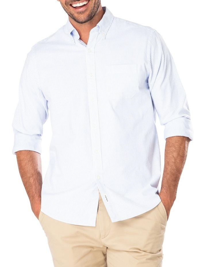 Casual Oxford Bengal Stripe Long Sleeve Shirt image 1