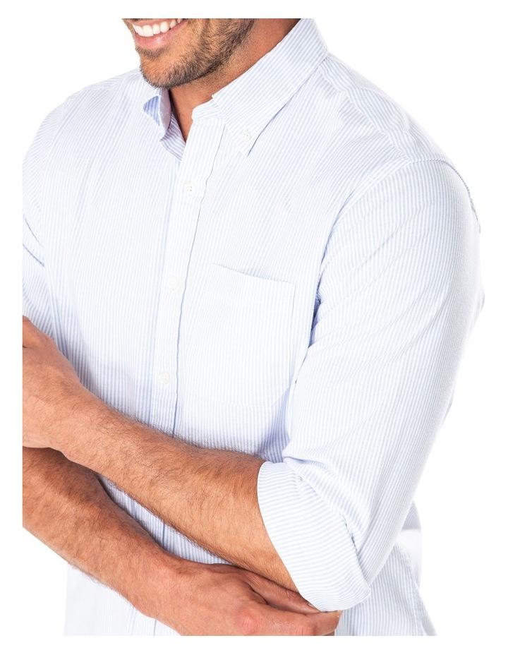 Casual Oxford Bengal Stripe Long Sleeve Shirt image 3