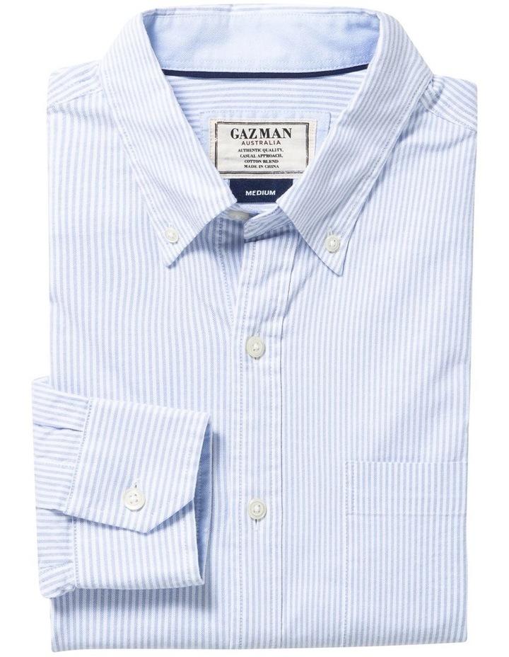 Casual Oxford Bengal Stripe Long Sleeve Shirt image 4