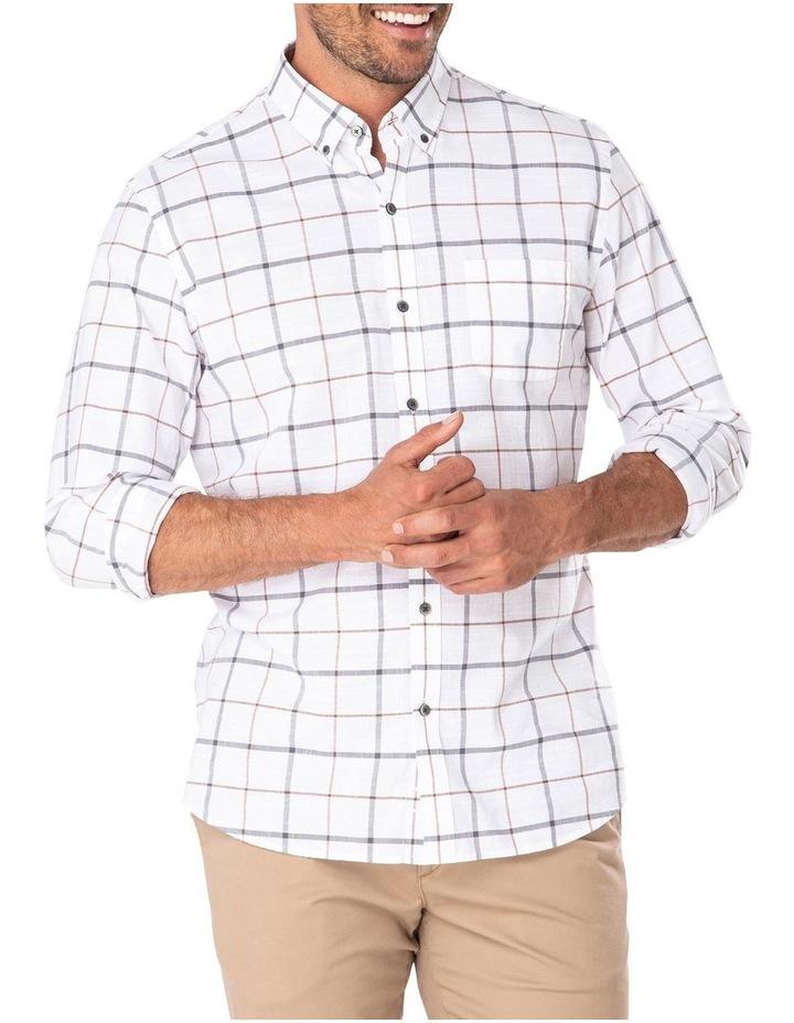 Casual Cotton Slub Dobby Check Long Sleeve Shirt image 1