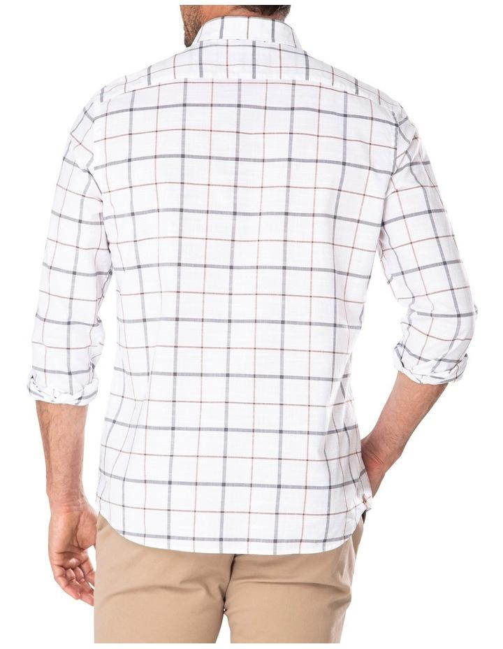 Casual Cotton Slub Dobby Check Long Sleeve Shirt image 2