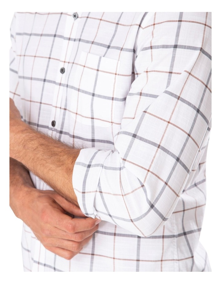 Casual Cotton Slub Dobby Check Long Sleeve Shirt image 3