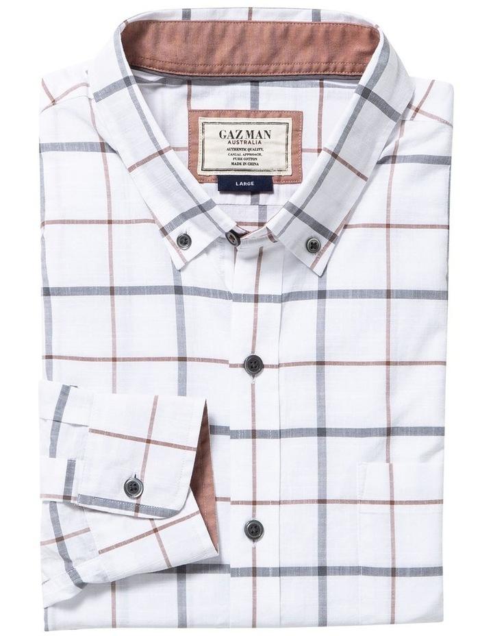 Casual Cotton Slub Dobby Check Long Sleeve Shirt image 4