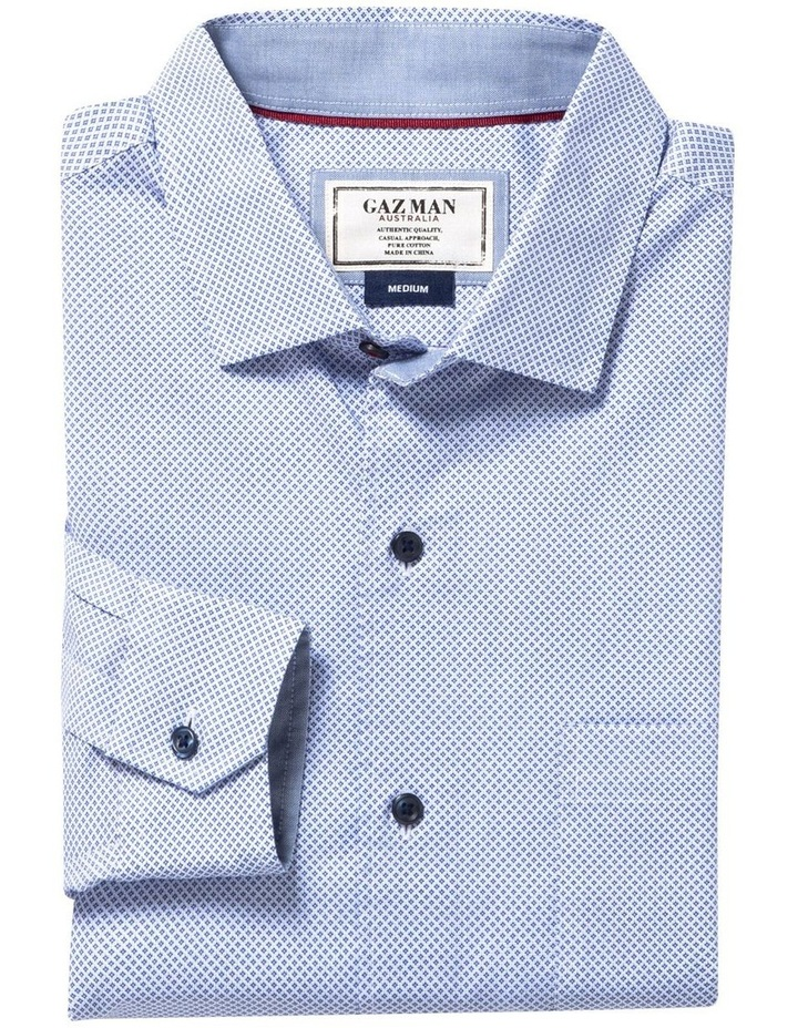 Smart Diamond Geo Print Long Sleeve Shirt image 4