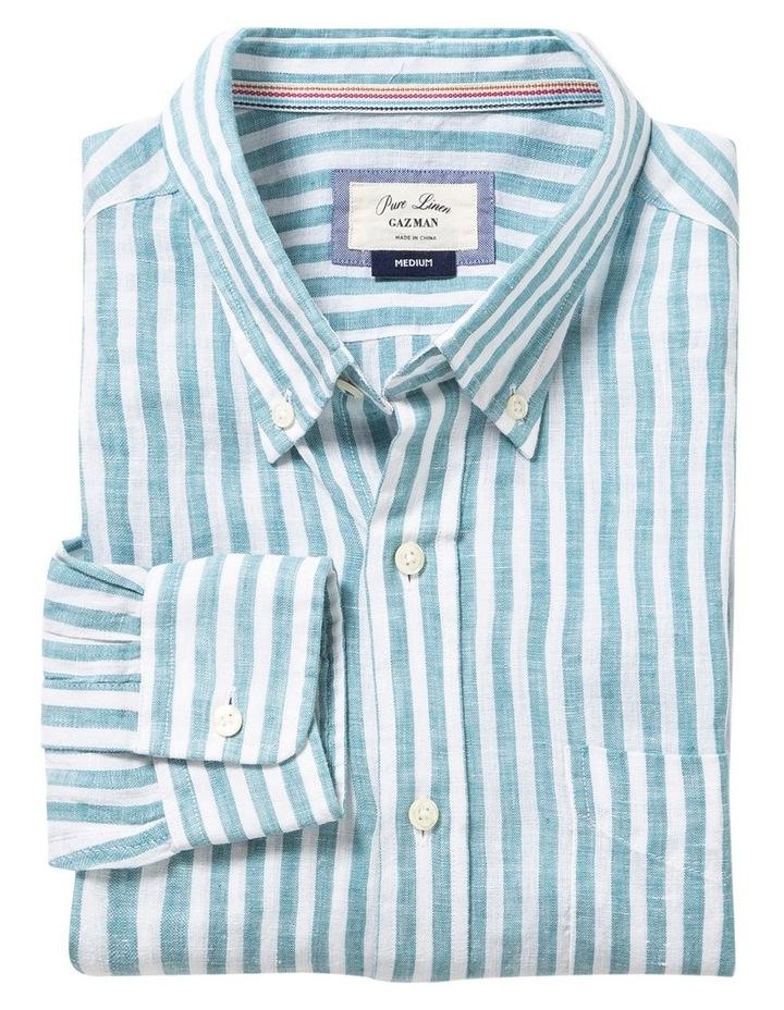 Pure Linen Bengal Stripe Long Sleeve Shirt image 4