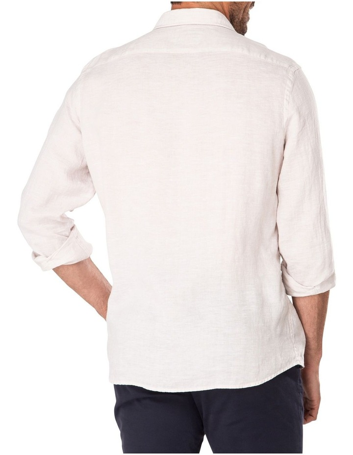 Tailored Pure Linen Plain Long Sleeve Shirt image 2