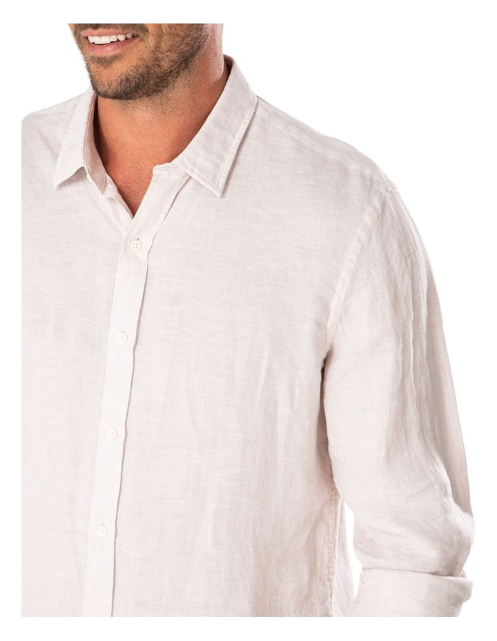 Tailored Pure Linen Plain Long Sleeve Shirt image 3