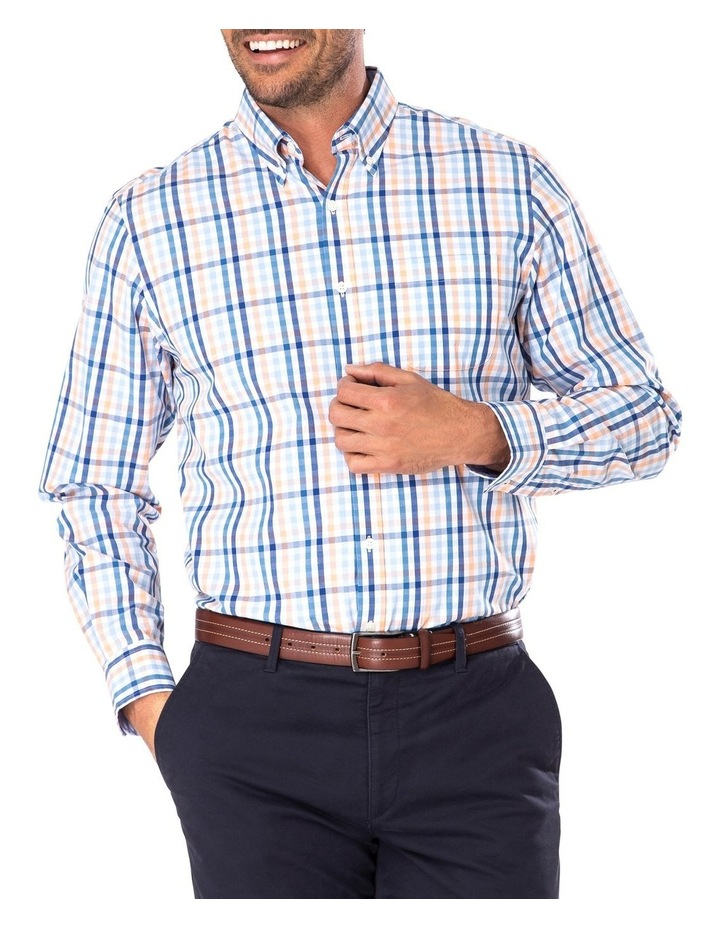 Tailored Casual Stretch Check Long Sleeve Shirt image 1