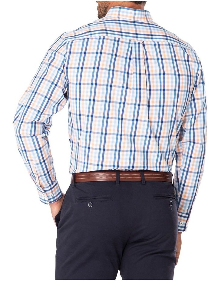 Tailored Casual Stretch Check Long Sleeve Shirt image 2