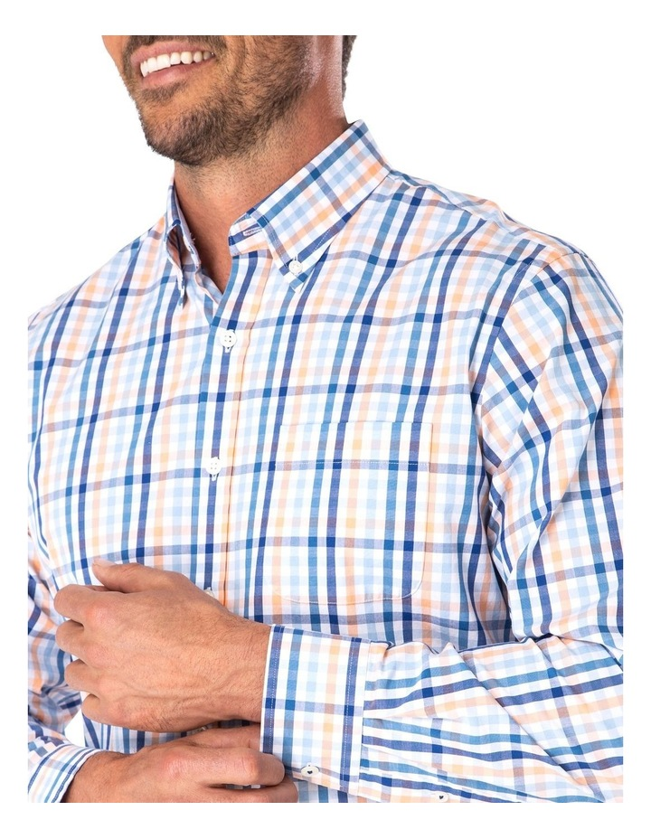 Tailored Casual Stretch Check Long Sleeve Shirt image 3