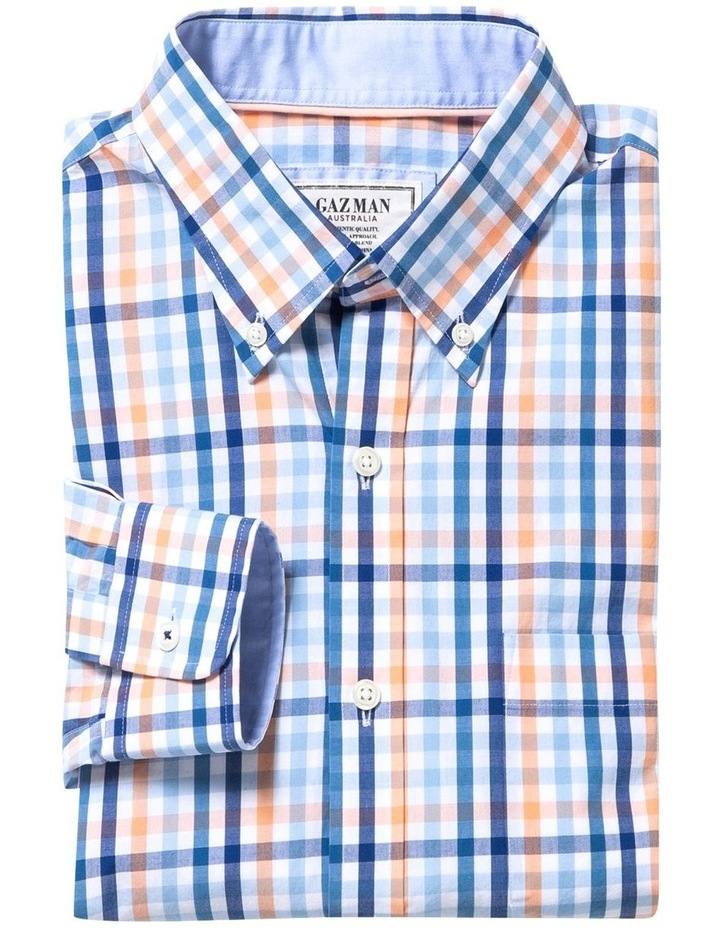 Tailored Casual Stretch Check Long Sleeve Shirt image 4