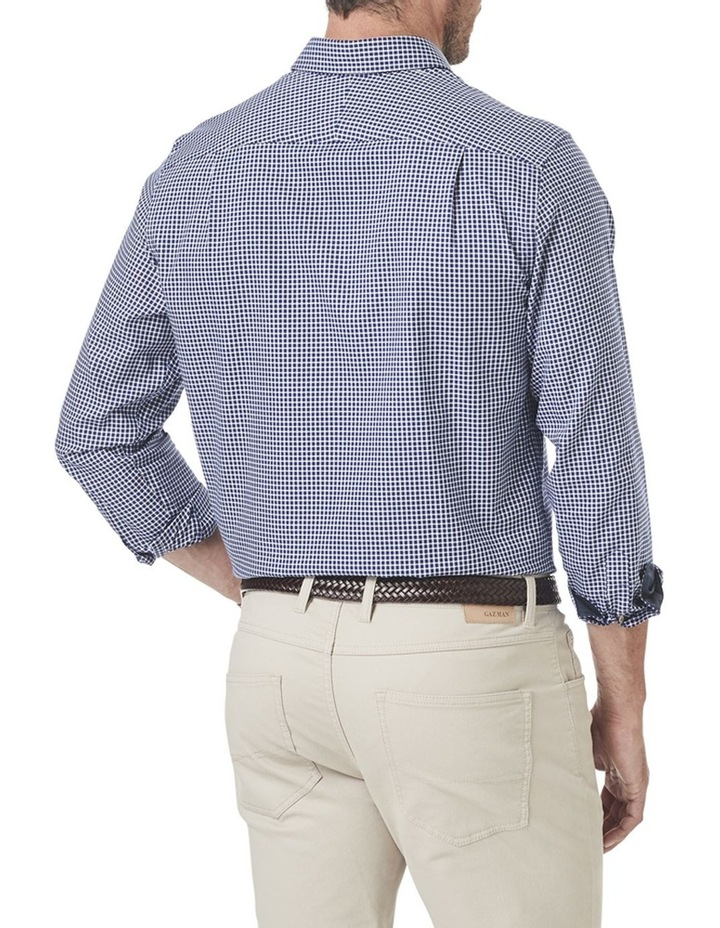 Easy Care Oxford Check Long Sleeve Shirt image 2