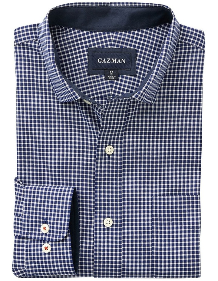 Easy Care Oxford Check Long Sleeve Shirt image 4