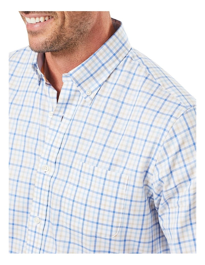 Easy Care Fine Twill Check Long Sleeve Shirt image 3