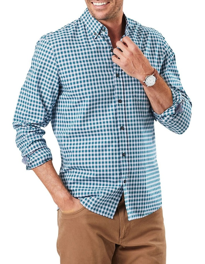 Tailored Oxford Check Long Sleeve Shirt image 1