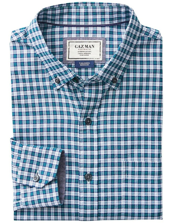 Tailored Oxford Check Long Sleeve Shirt image 4