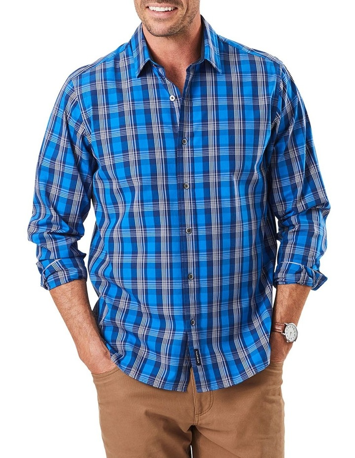 Casual Stretch Multi Check Long Sleeve Shirt image 1