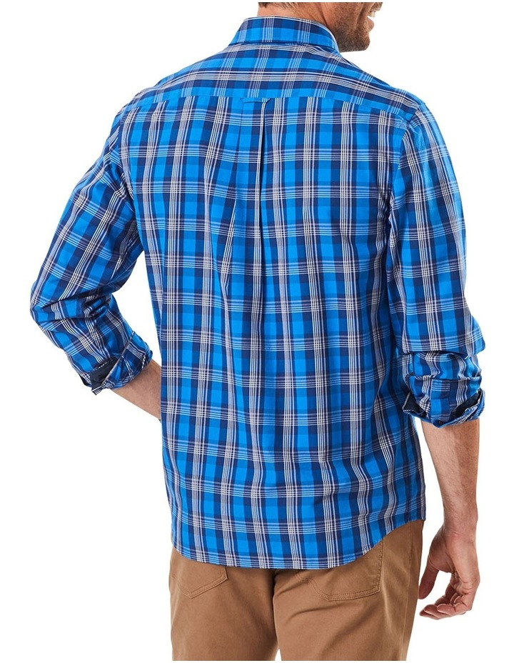 Casual Stretch Multi Check Long Sleeve Shirt image 2
