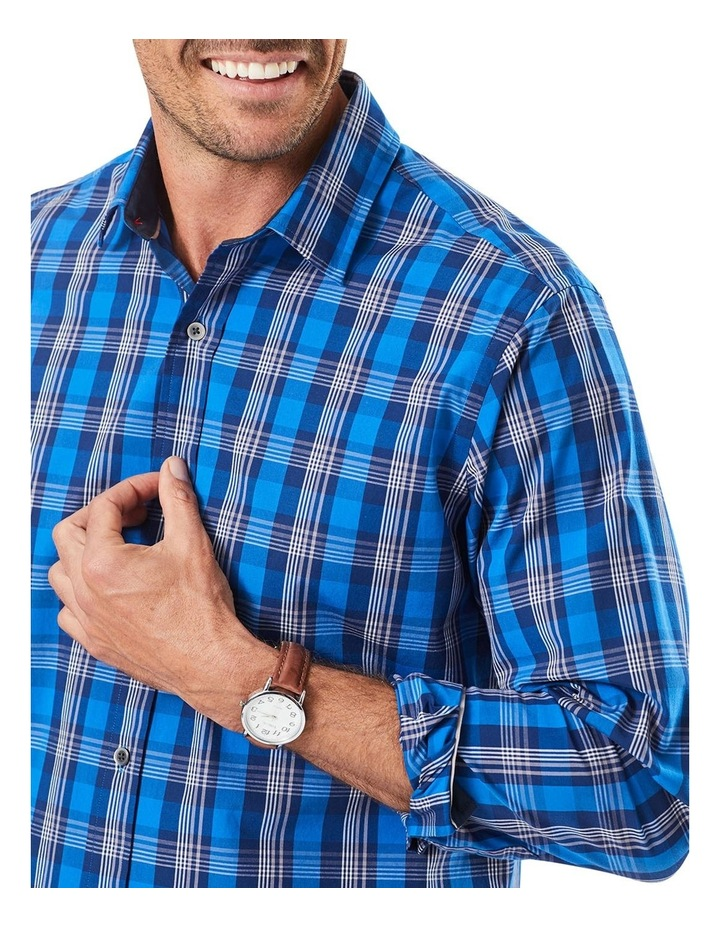 Casual Stretch Multi Check Long Sleeve Shirt image 3
