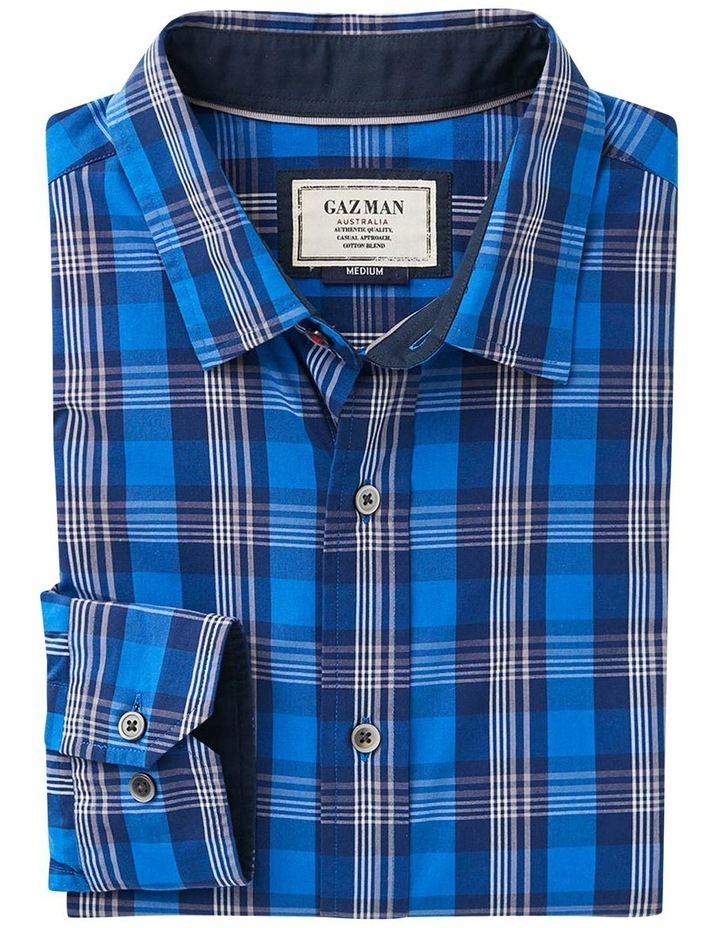 Casual Stretch Multi Check Long Sleeve Shirt image 4