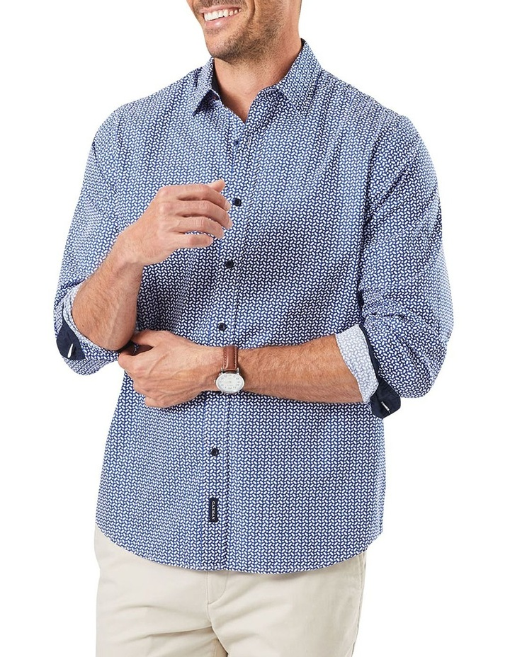 Casual Geo Print Long Sleeve Shirt image 1