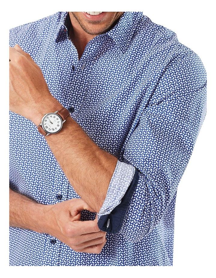 Casual Geo Print Long Sleeve Shirt image 3